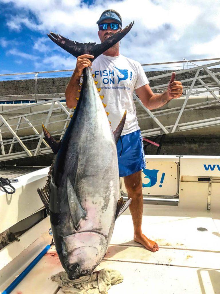 El atún de ojo grande o big eye, otra de las especies estrella de las aguas de Gran Canaria.
