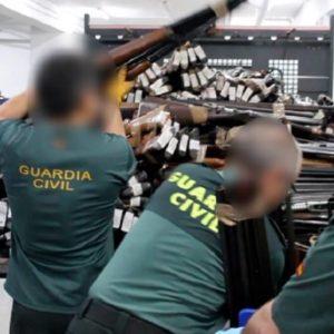 La Guardia Civil destruyó más de 86.000 armas durante el año 2019