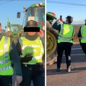 Las redes explotan viendo a la Guardia Civil multar a los agricultores que se manifiestan en Extremadura