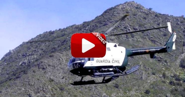 Este es el modo en que la Guardia Civil lucha contra el furtivismo desde helicópteros