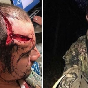 Un cazador recibe el brutal ataque de un ciervo al que acababa de disparar