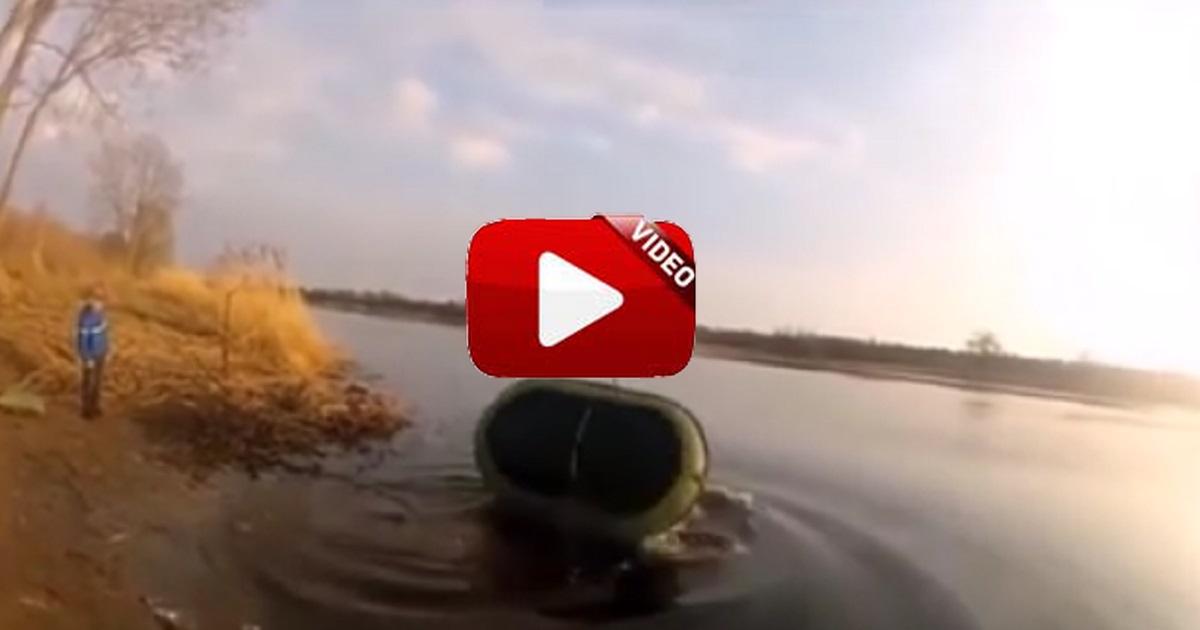 Esto es lo que sucede cuando vas de pesca y la lías parda