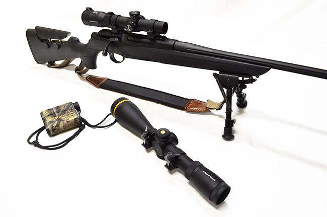 Visores de caza Leupold en rifle Merkel.