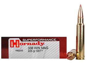 Cartuchos Hornady .338 Win Mag Superformance 225 gr SST