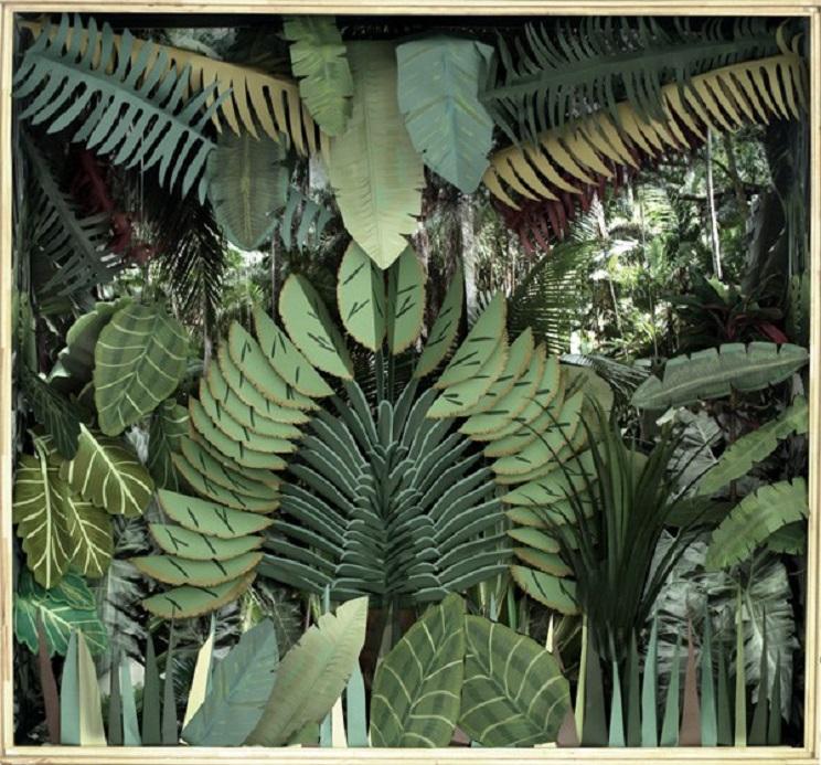 imitacion selva habitacion infantil plantas artificiales