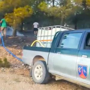Veinte cazadores alertan de un incendio en Cuenca y ayudan a extinguirlo