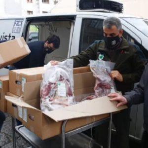 Cazadores gallegos donan carne de jabalí a los más necesitados estas Navidades
