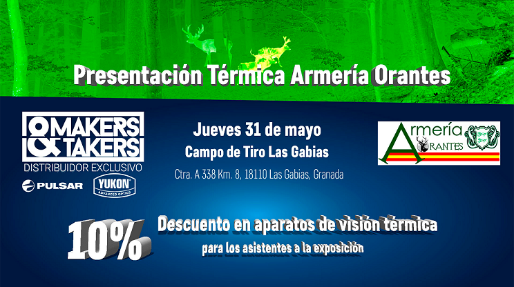 Makers&Takers: Presentación de visión térmica en Armería Orantes (Granada)