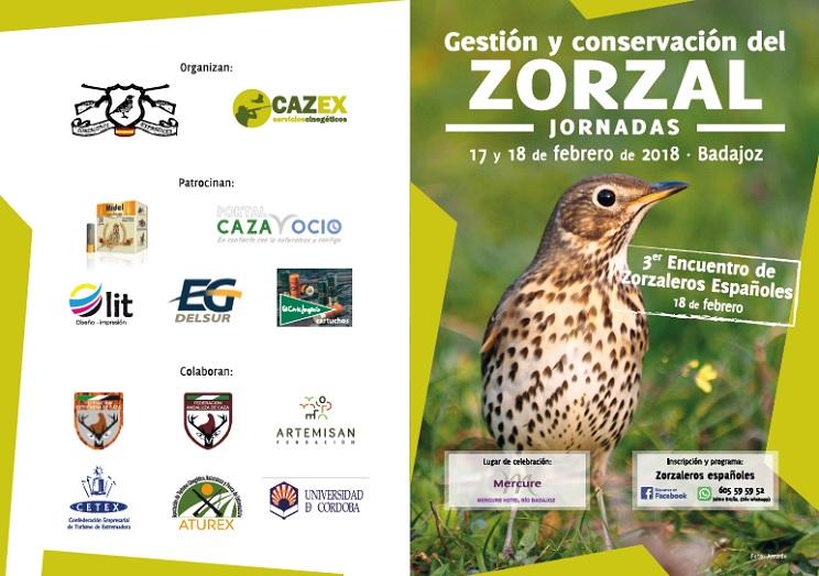 Badajoz acogerá en febrero la jornada 'Gestión y conservación del zorzal' y el Encuentro de Zorzaleros Españoles