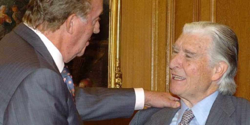 José María Blanc junto a D. Juan Carlos I/ EFE Gustavo Cuevas