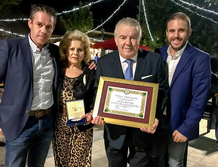 Juan Garoz y su familia.