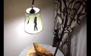 lámpara con motivos de pesca