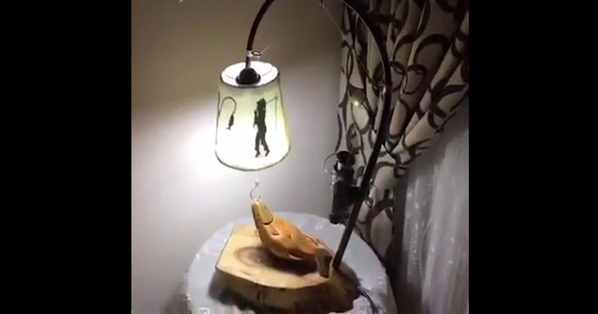 Fabrica tu propia l mpara con motivos de pesca siguiendo - Fabrica tu lampara ...