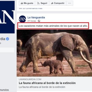 Un mensaje falso de 'La Vanguardia' desata una ola de odio hacia los cazadores
