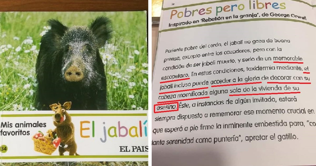 Un libro de El País para niños llama «asesinos» a los cazadores