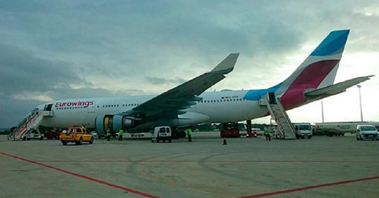 liebre avion a aterrizaje emergencia