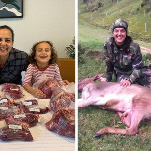 Esta madre ahorra 14.000 euros al año cazando la carne que consume su familia