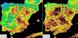 Mapa que refleja la sequía en España / Fotografía: AEMET