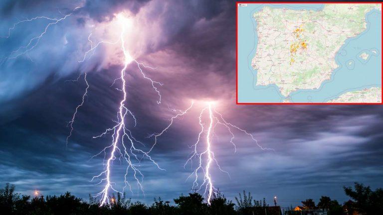 mapa tormenta eléctrica coto de caza