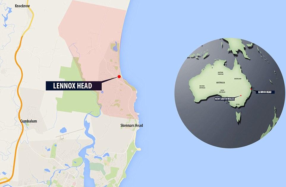 Mapa de la zona donde se capturo el escualo