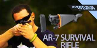 El rifle de supervivencia que guarda todas sus piezas en la culata