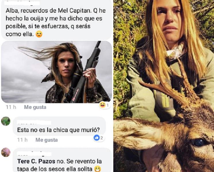 Comentarios Facebook contra Mel Capitán