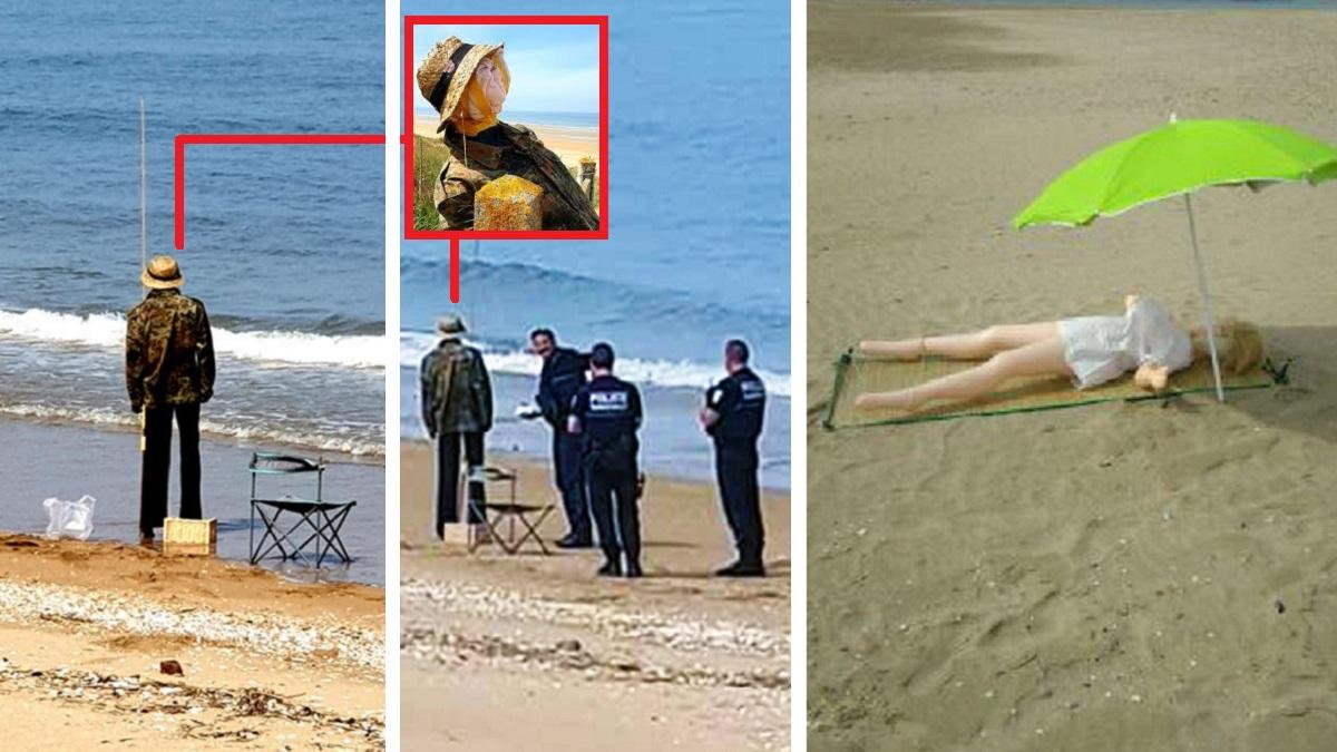 Espantapájaros vestidos de pescador y muñecas hinchables protagonizan las 'bromas' virales a la Policía en Francia