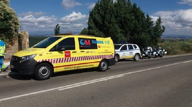 muere ciclista al chocar con un corzo en Madrid