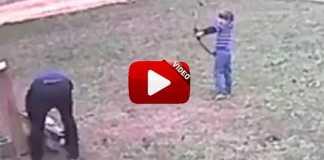 niño casi mata a su padre con el arco