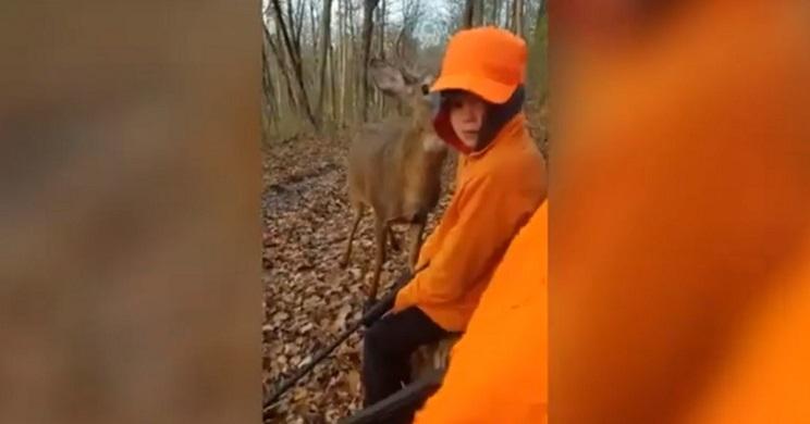 niño primer dia de caza