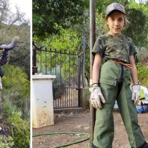 Una niña de 9 años ayuda a buscar a un perro de rehala y enamora a los cazadores