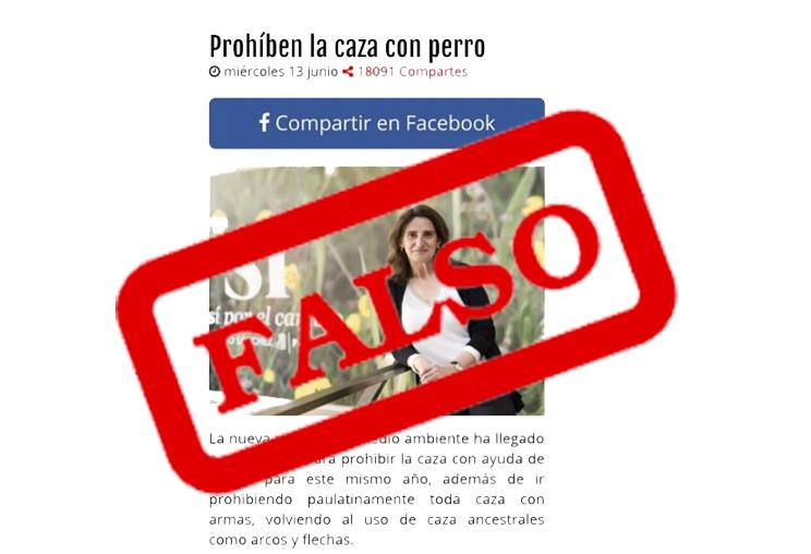 """""""Prohíben la caza con perro"""", la noticia falsa que circula por WhatsApp"""