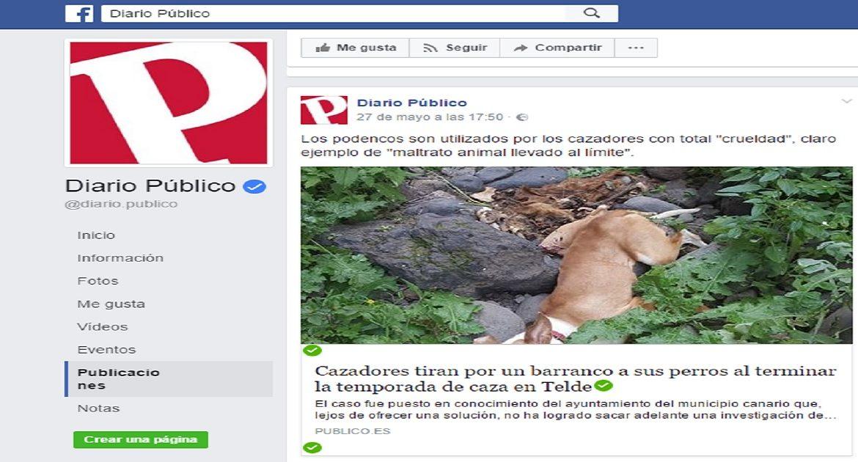 Diario Público hace viral una noticia falsa que criminaliza a los cazadores