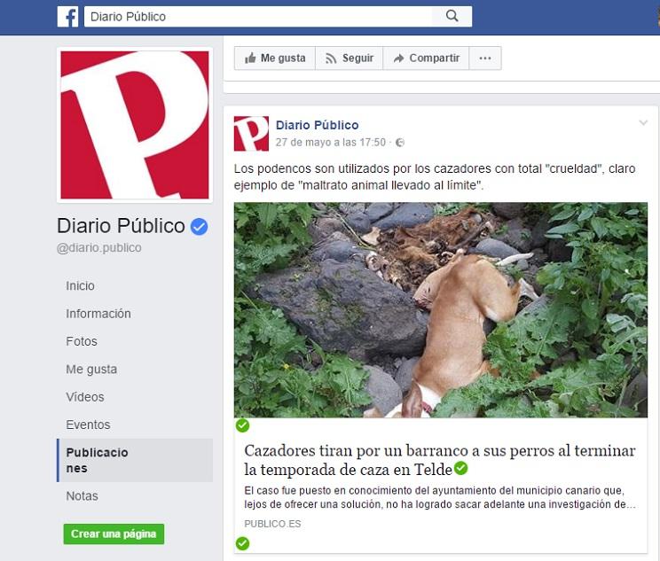 La ONC pide que se aclare cuanto antes la muerte de varios perros en un barranco canario