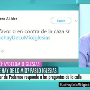 Pablo Iglesias:  «No me gusta la caza, pero entiendo que no se puede prohibir así como así»