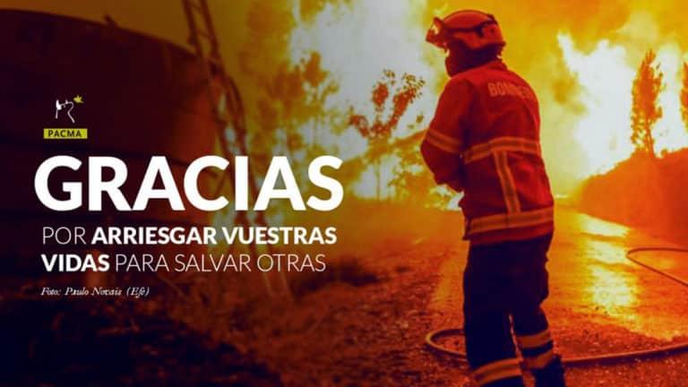 Mensaje de PACMA sobre los incendios al que respondieron los cazadores. /PACMA