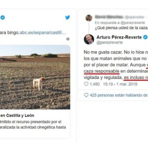 Pérez-Reverte carga contra la suspensión de la caza en CyL