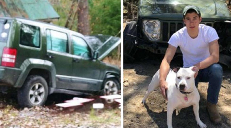 La perra de un pescador le salva la vida tras un brutal accidente
