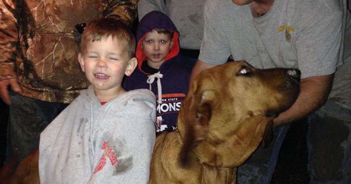 Encuentra a un niño perdido gracias a su perro de caza
