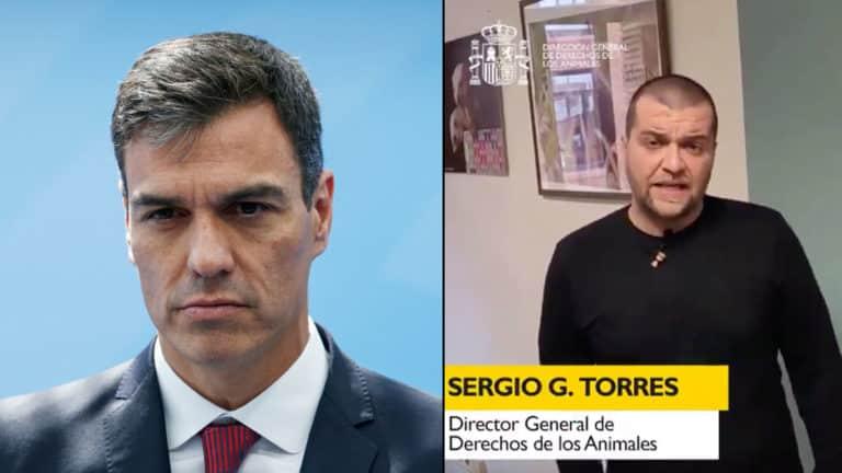 Pedro Sánchez y Sergio García Torres. © Shutterstock y Twitter