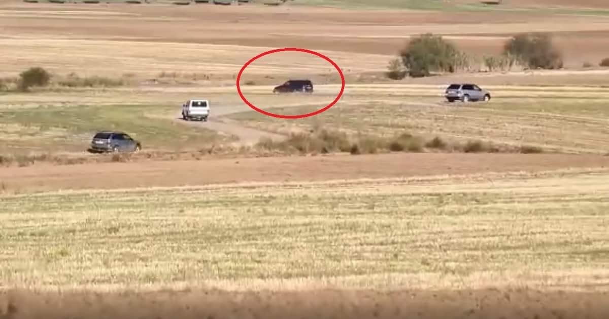 Graban la persecución de varios cazadores a unos supuestos furtivos en Toledo