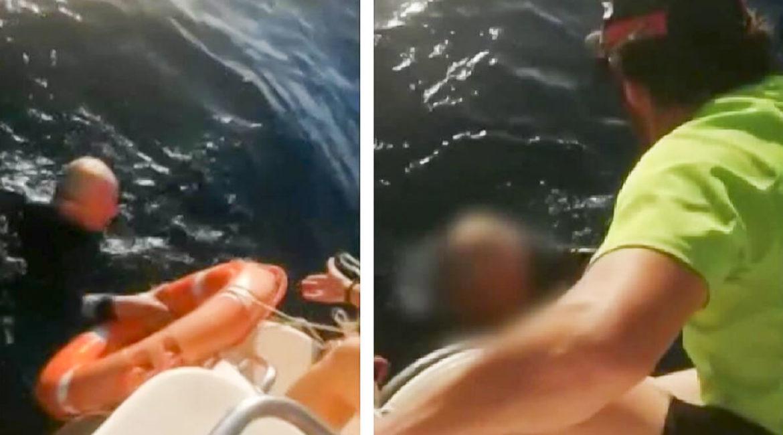 Un pescador de 73 años sobrevive ocho horas en el mar haciéndose el muerto