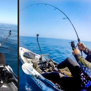 Este pescador graba su impresionante batalla al jigging con un atún gigante