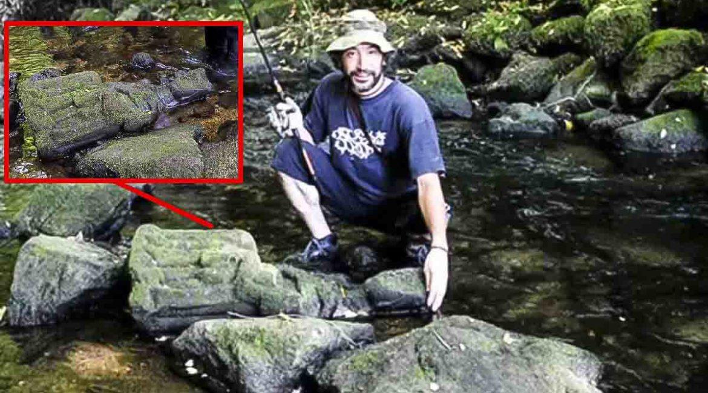 Va a pescar truchas a un río gallego y encuentra una virgen del siglo XIV