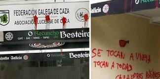 pintadas contra la federacion gallega de caza