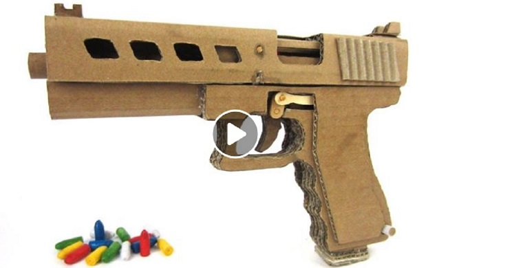 Diseñan una pistola de cartón ¡que dispara!