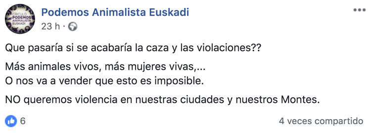 Podemos Animalista Euskadi