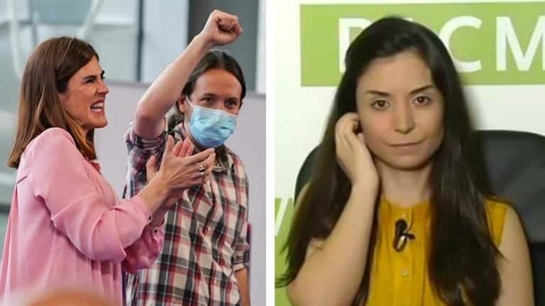 Miren Gorrotxategi con Pablo Iglesias (Podemos) y Laura Duarte (PACMA).