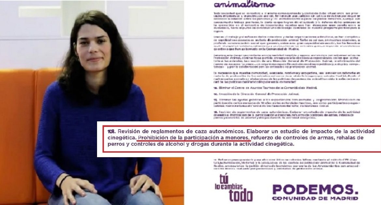 Podemos promete prohibir la caza a menores si gana en la Comunidad de Madrid