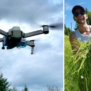Así usan los drones los cazadores para salvar corcinos de las cosechadoras en Suiza